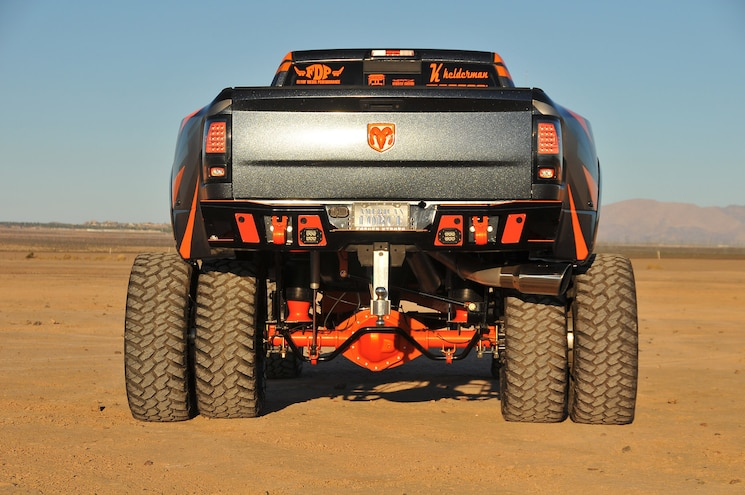 2014 Dodge Ram 3500 Pumpkin Spice Rear