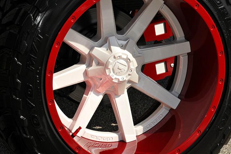 2014 Ford F 250 Lariat Red Vevet Wheel