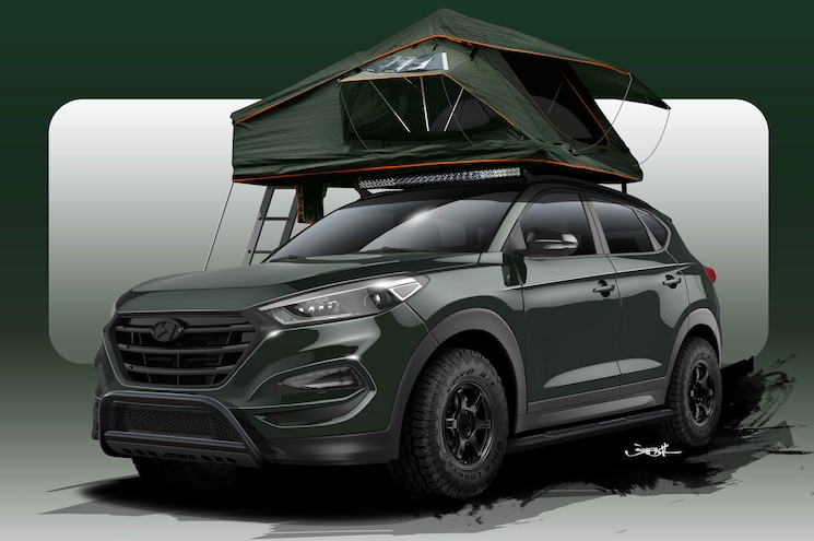 Hyundai Busts Out Overland-Ready Tucson Adventuremobile for SEMA 2015