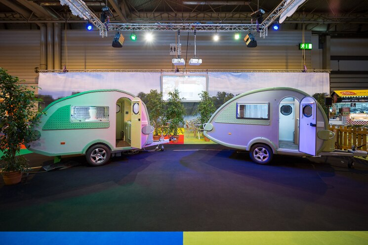 Lego Caravan Guinness World Record Exterior With Real TAB RV