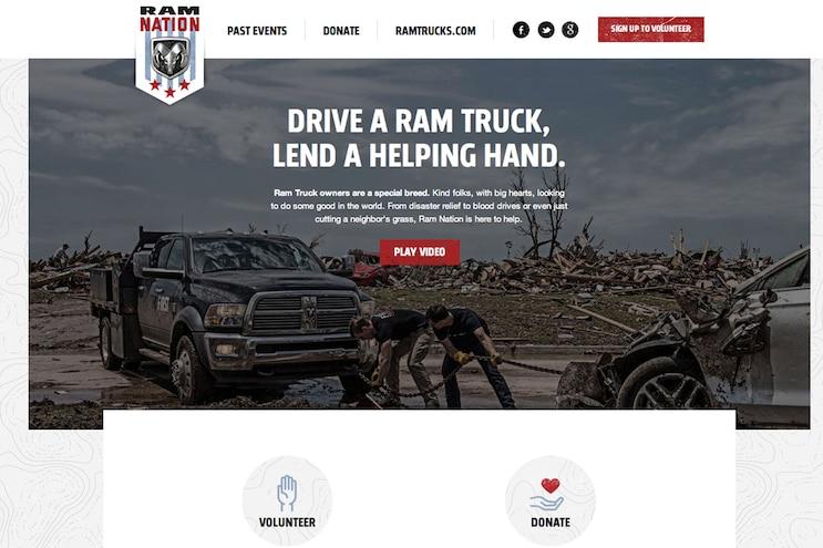 001 Auto News Ram Nation Disaster Relief Community Service Trucks