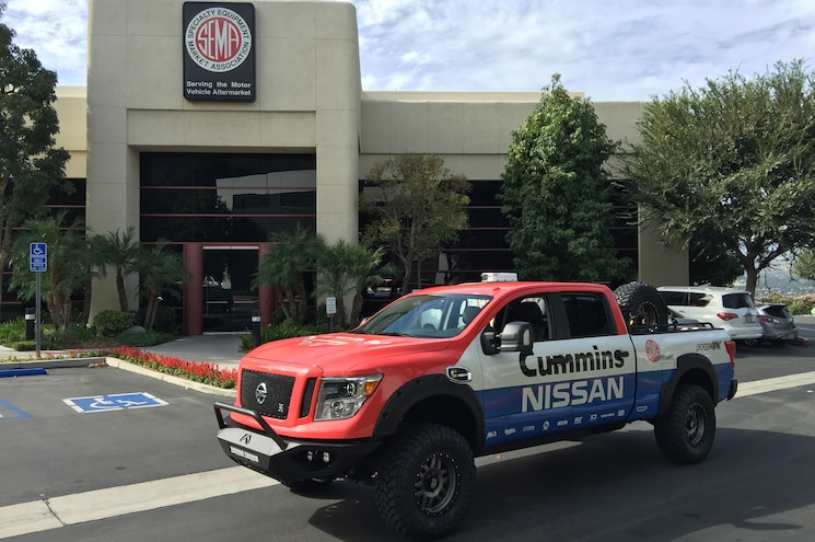 2016 Nissan Titan XD Gets Measured for SEMA