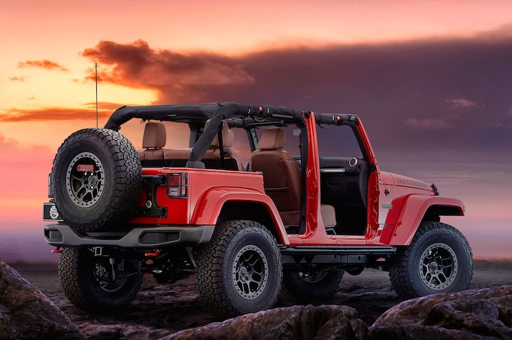 Jeep Wrangler Red Rock Concept Rear Side View