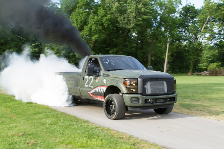 2012 Ford F250 Mighty Service Burnout
