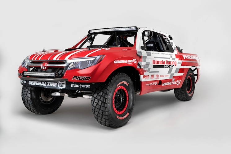 Styling of 2017 Ridgeline Hinted by 550hp Baja Race Truck Concept
