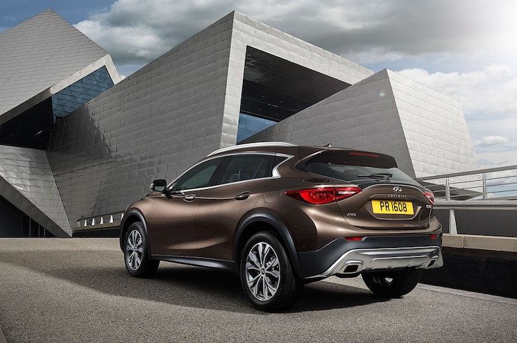 2017 Infiniti QX30 Rear Side View With Building