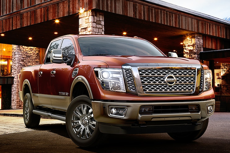2016 Nissan Titan Platinum Reserve Barn Front View Forged Copper