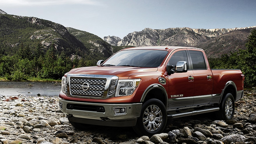 2016 Nissan Titan Platinum Reserve Off Roading Mountains Forged Copper