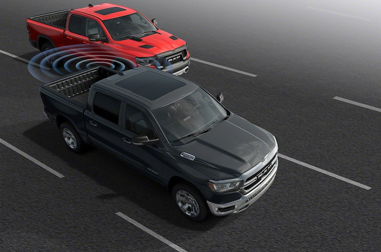 2019 Ram 1500 Active Safety Blind Spot Monitoring