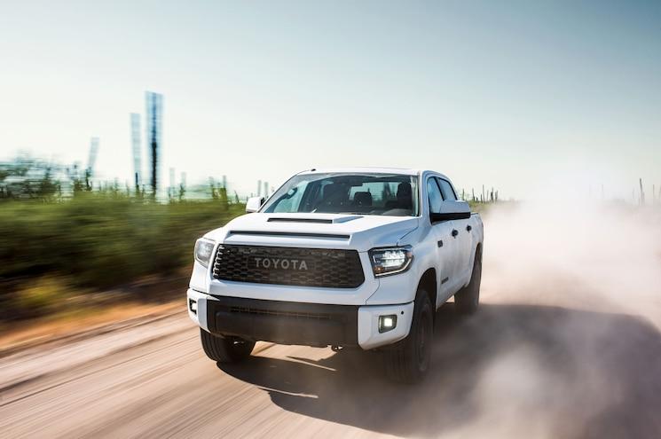 2019 Toyota Tundra Trd Pro Front Quarter Dirt