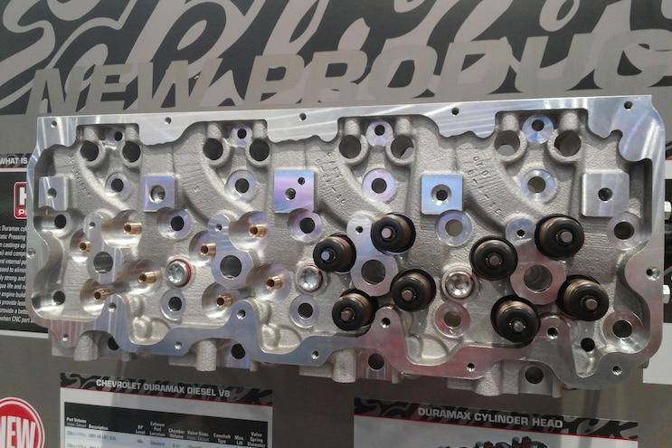 041 Edelbrock Duramax Cylinder Head Upgrade SEMA