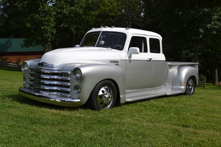 002 1947 Chevy 3800 1 Ton Dually Front Driver
