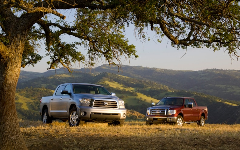 Earth Movers: Ford F-150 SuperCrew Lariat vs Toyota Tundra CrewMax Limited