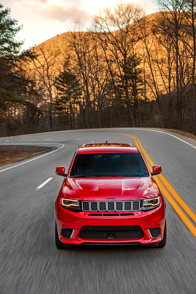 2018 Jeep Grand Cherokee Trackhawk First Drive Front View