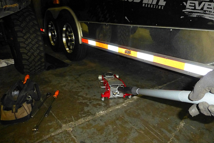 Upgrading Fourwheeler Network Trailer Wheels Floorjack Trailer