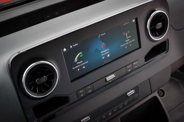 2019 Mercedes Benz Sprinter Van Interior Mbux Infotainment 01