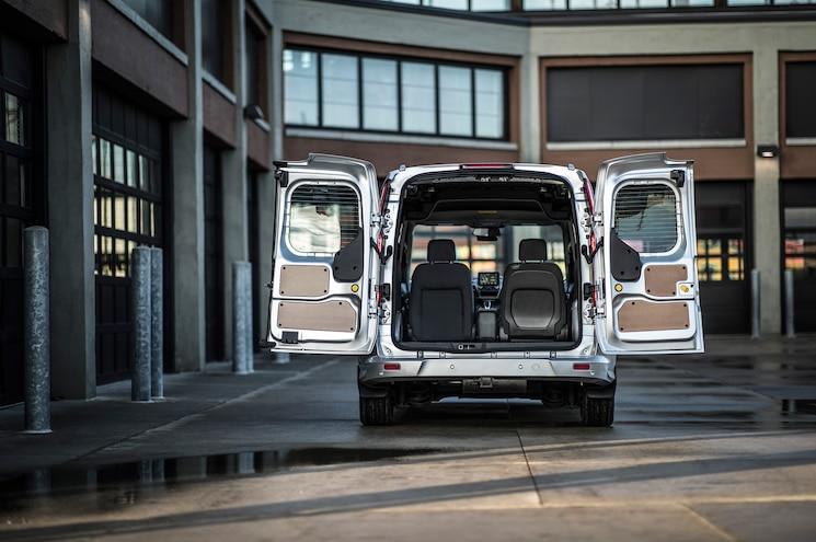 2019 Ford Transit Connect Cargo Van Exterior Rear Doors Open