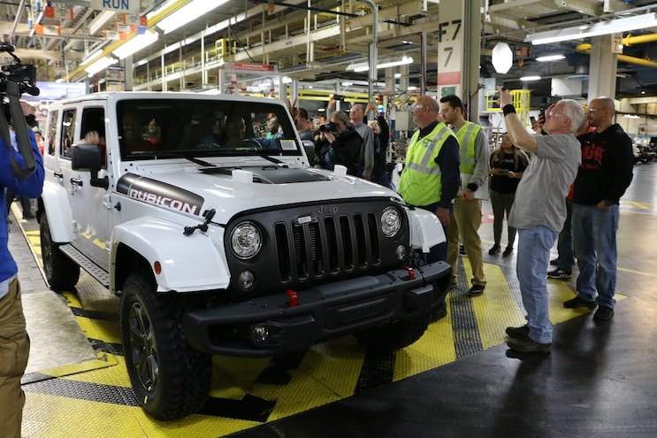 Final Jeep Wrangler JK Rolls Off Toledo Production Line