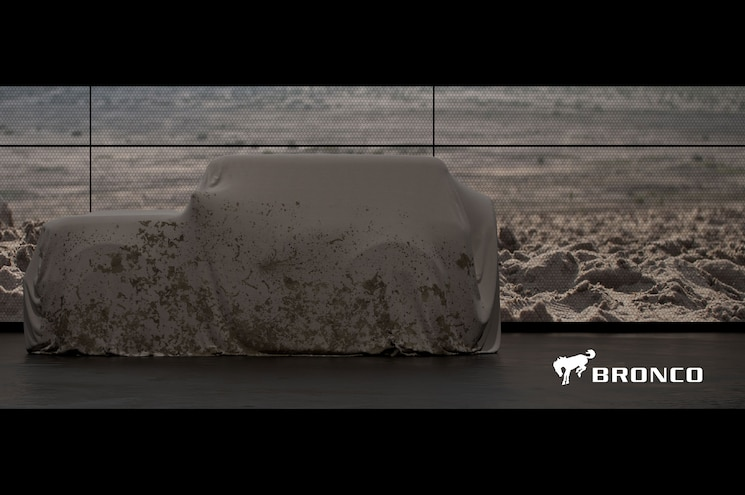 2020 Ford Bronco Teaser Side Profile Logo