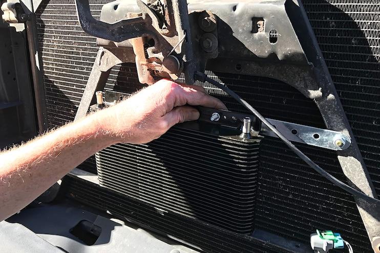 B M SuperCooler Transmission Cooler Install 12