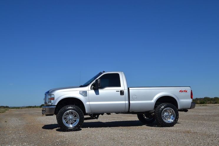 2008 Ford F-350: Work, Street, or Strip; this 800-hp silver 6.4L can do it all