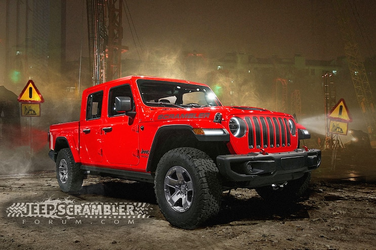 Jeep Wrangler JL Pickup Renderings