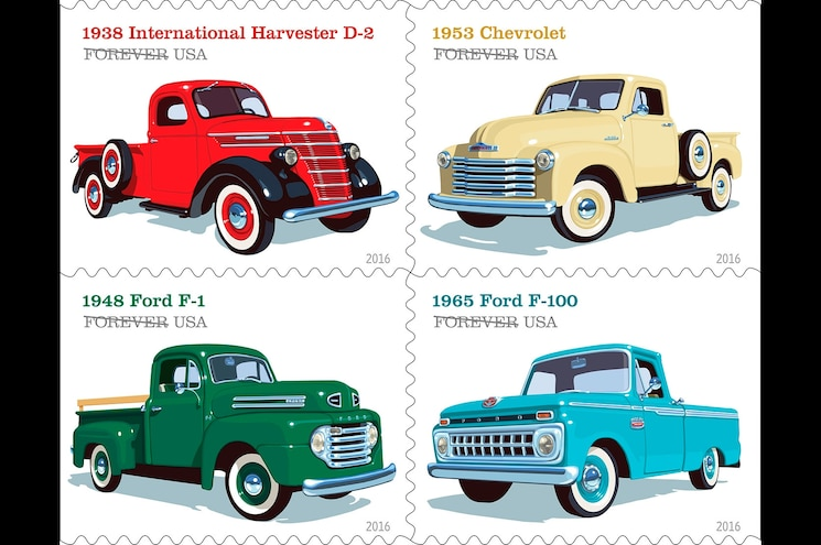 United States Postal Service to Release Pickup Truck Stamp Collection in 2016