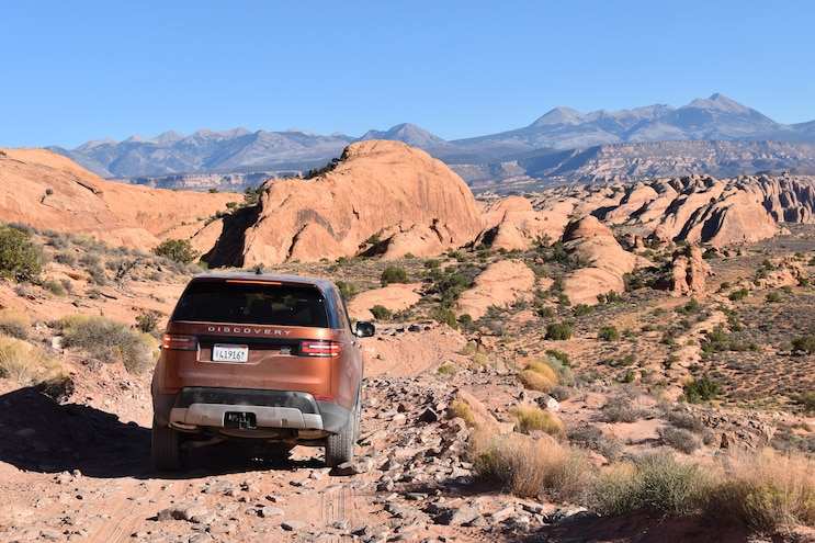 Off Roading A 2018 Land Rover Discovery Rear