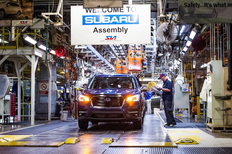 2019 Subaru Ascent Three-Row Crossover Goes Into Production