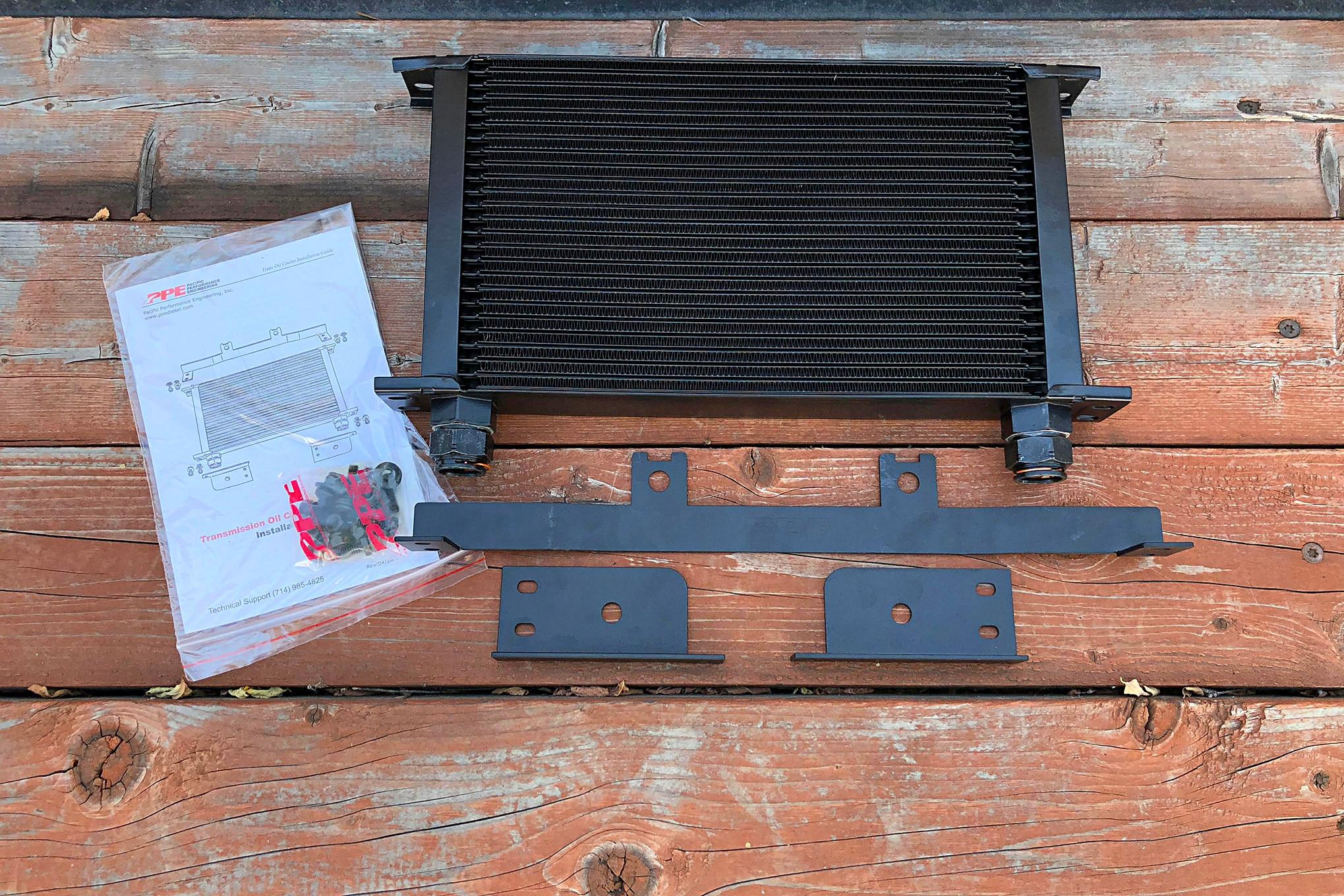 Installing PPE's Duramax Transmission Cooler