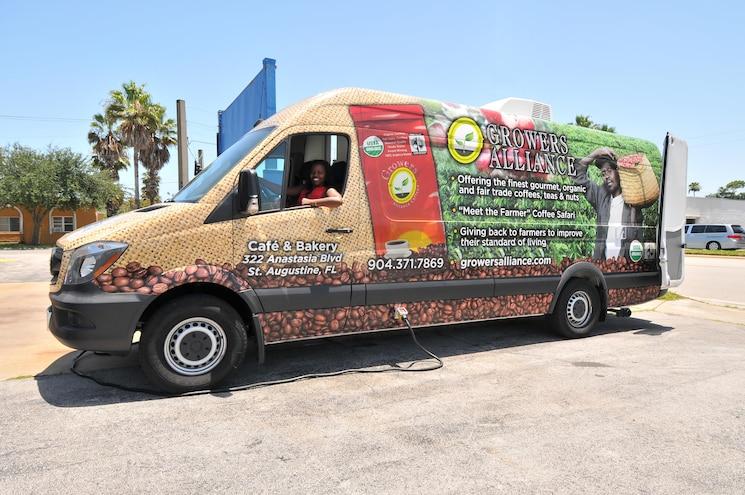 Growers Alliance's 2014 Mercedes Sprinter Coffee Truck