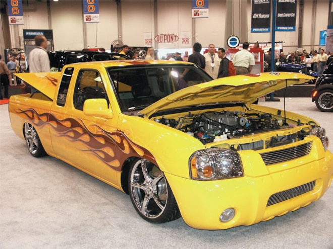 sema 2002 Auto Show custom Yellow Truck