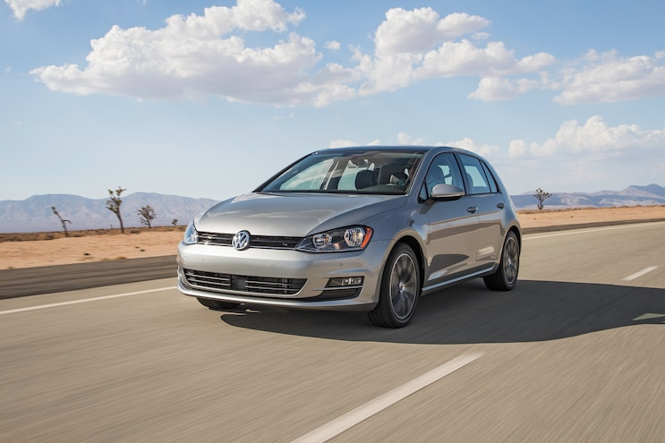 2015 Volkswagen Golf TDI Front Three Quarter In Motion1