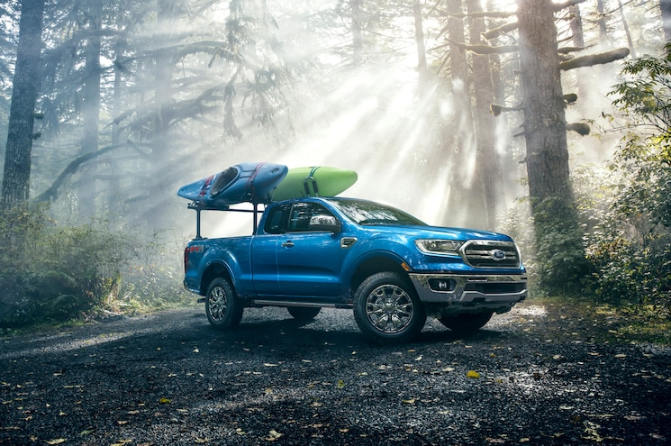 2019 Ford Ranger Supercrew Hauling Canoes