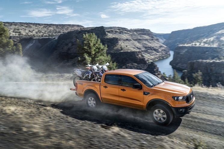 2019 Ford Ranger Supercrew Hauling Motorcycles
