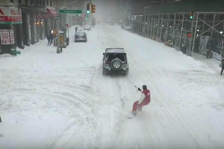 Video: Jeep Wrangler and Drone Pwn Blizzard 2016
