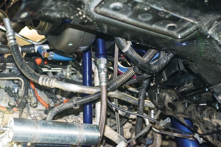 Deviant Race Part Compound Turbocharger Kit Turbo Mount Oil Return