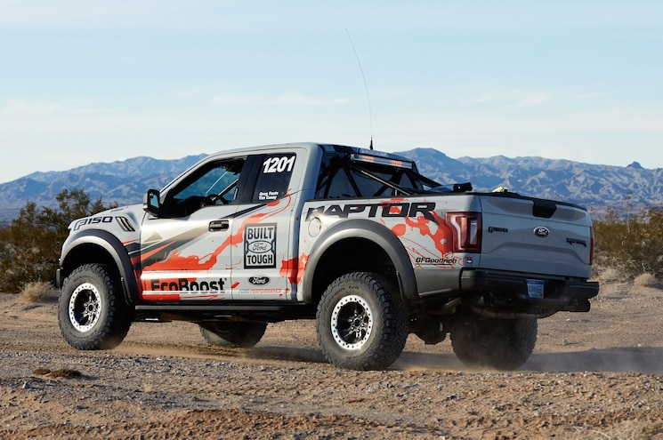 2017 Ford F 150 Raptor Race Truck Rear Three Quarter 02 In Motion