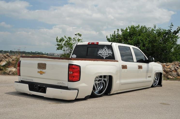 2014 Chevy Silverado White Lines Rear