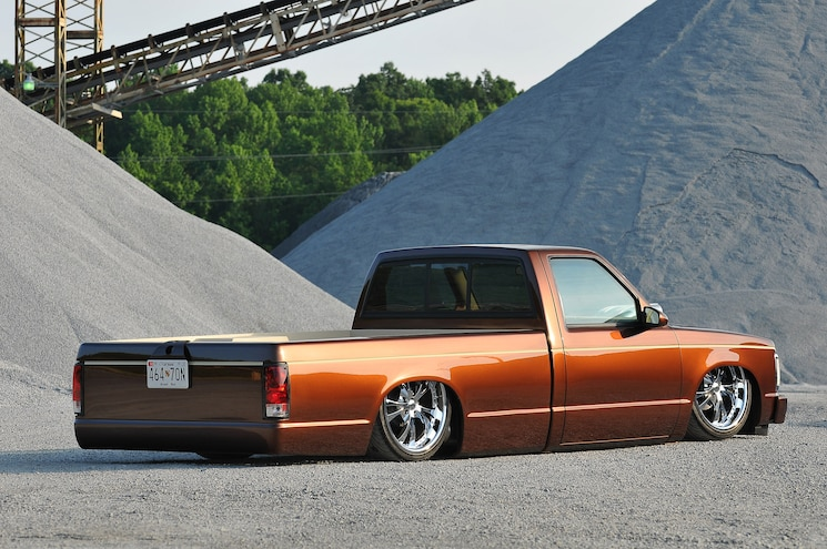 1987 Chevy S10 Three Times A Charm Rear 3 4 View