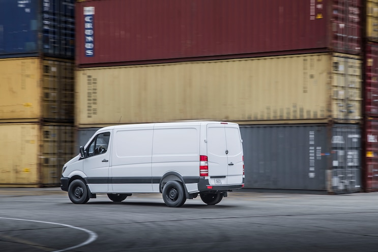 2016 Mercedes Benz Sprinter Worker Rear Three Quarters In Motion 05