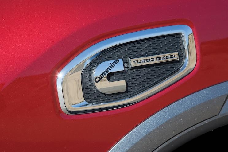 05 2016 Nissan Titan XD Cummins Badge