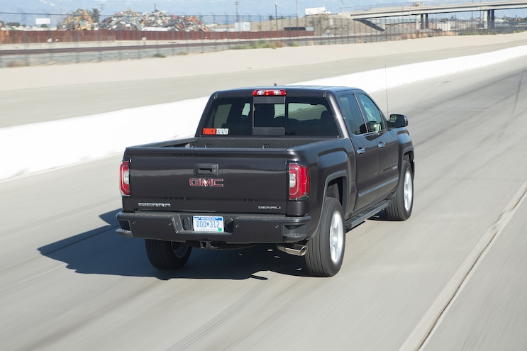 90 2016 GMC Sierra Denali Rear Three Quarter