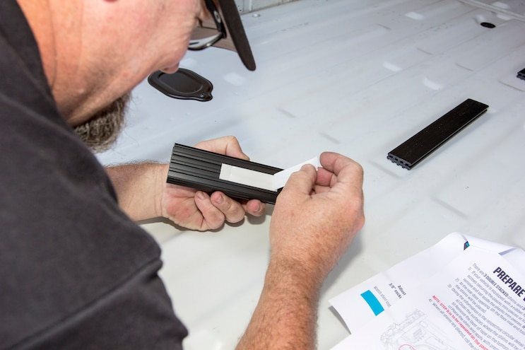 Install Decked Pickup Van Drawer System 004