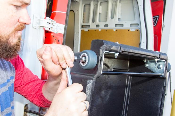 Install Decked Pickup Van Drawer System 013
