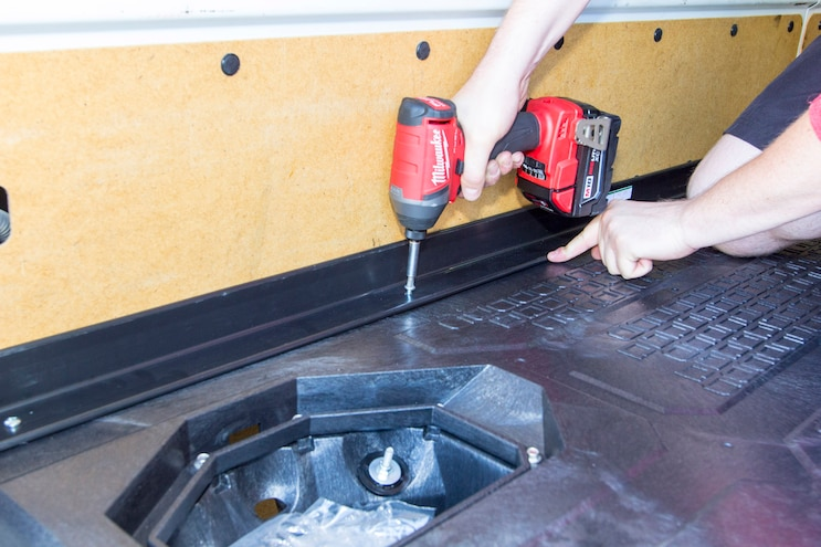 Install Decked Pickup Van Drawer System 011