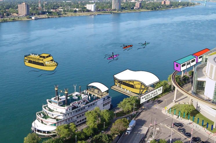 2020 North American International Auto Show Renderings Riverfront Ferry