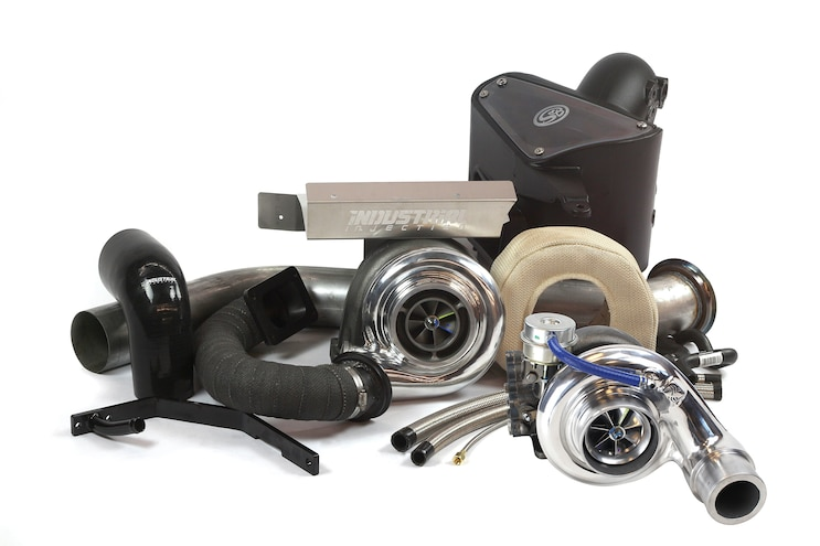 021 Industrial Injection Cummins Diesel Compund Turbo Kit With Silver Bullet And BorgWarner S480