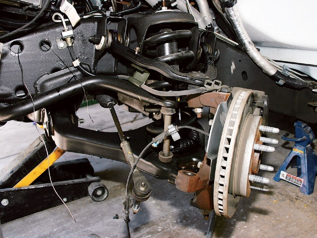 2004 chevy silverado front air suspension installation - makin' it lay part  2 photo & image gallery  truck trend