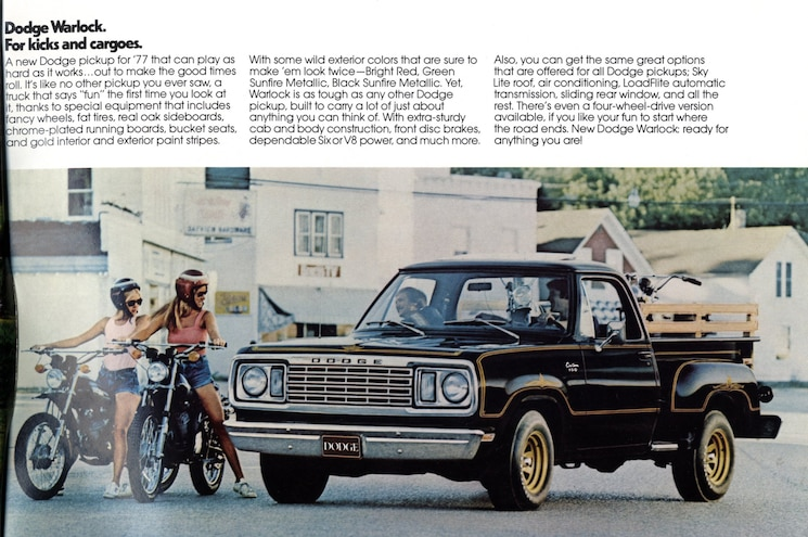 1977 Dodge D100 Warlock Magazine Advertisement